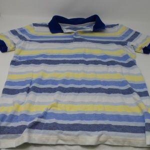 Lands' End Men's Short Sleeve Stripe Polo